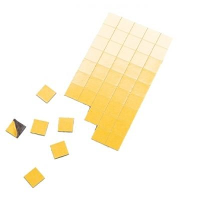 Magnet-Plättchen 200 Stück - selbstklebend - 10 mm x 10 mm - Stärke: 1,2 mm - schwarz - TimeTex 93337 - selbstklebende Magnetplättchen - Magnete