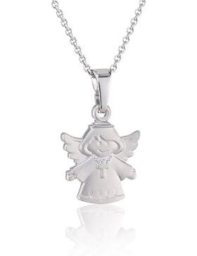 Xaana Kinder-Anhänger Engel matt incl Kette 36 38 cm rhod 925 Sterling Silber AMZ0110