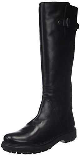 Geox D Asheely L, Botas Altas para Mujer, (Black C9999), 38 EU