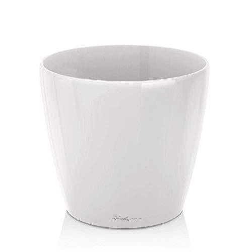LECHUZA 14500 Classico Premium 60 Blanc Brillant, Espresso Métallisé