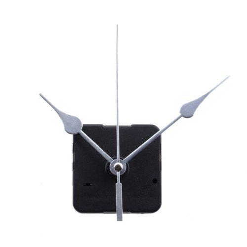 Gleader - Maquinaria y agujas de recambio para reloj de mesa o de pared, plateado