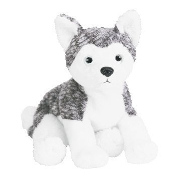 TY Beanie Baby - MUKLUK the Husky Dog (white eyes) by Ty - Mukluks Mukluk