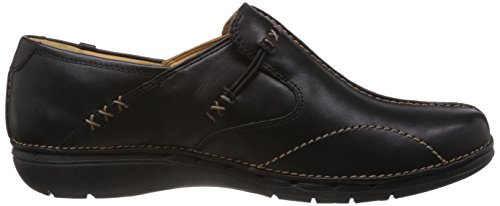 Clarks Un Loop 203128375, Mocassini Donna Nero (Black Leather)