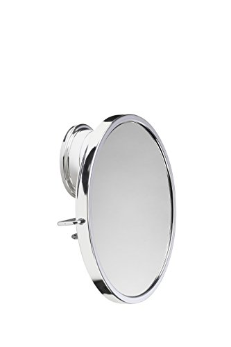 Croydex Chrome Plated Mild Steel Rust Free Stick-n-Lock Plus Swivel Anti-Fog Mirror, Silver by Croydex