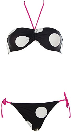ROXY® Neckholder Bandeau Bikini Schwarz L (Neckholder-bikini Roxy)