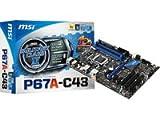MSI P67A-C43 (B3) 7673-021R Mainboard Sockel 1155 4X DDR3 Speicher ATX max. 32GB (3X PCI, 1x PCI-e x16, 4X SATA 2, 2X SATA 3, 2X USB 3.0)