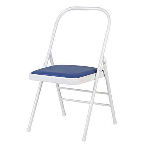 MUMUMI Yoga hilfsstuhl hochwertige Kunststoff klappstuhl Computer Stuhl mit pu Kissen Harz klappstuhl öffentlichen Sitz metallskelett langlebig platzsparend Kurve dreifache unterstützung -