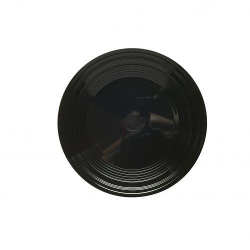 Plastico 1002bl Plastique Petite assiette 190 mm, Noir (Lot de 100)