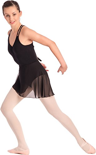Damen Ballett Wickelrock Ballettrock 2007 (S, Schwarz) (Wickelrock Damen)