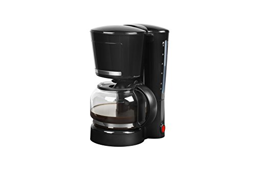 MEDION MD 17229 Cafetera eléctrica, 870 W, 1.25 litros, Acero Inoxidable, Negro