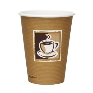 Bistro Single Wall Hot Cups - Capacity: 12oz. Box Quantity: