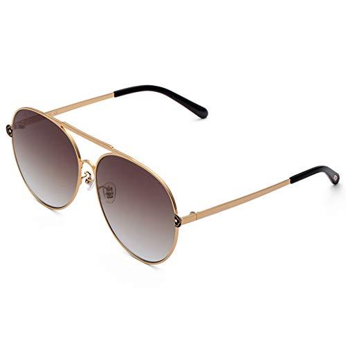 ODSHY Sonnenbrille Frauen New Wave Fashion Classic Retro Sonnenbrille Hipster Sonnenbrille (Farbe : Brown, größe : 55mm-64mm)