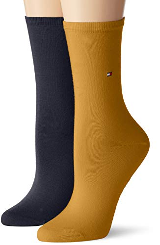 Tommy Hilfiger Damen TH WOMEN CASUAL 2P Socken, Mehrfarbig (Broker Brown 262), 35/38 (2er Pack)