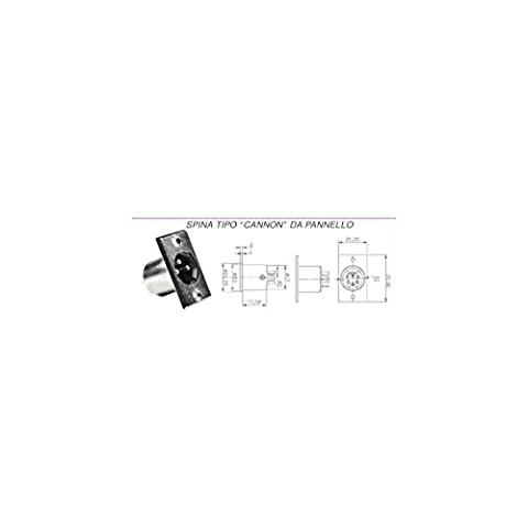MICROELETTRONICA - Mikrofon-Adapter-Stecker-Stecker Typ Kanone Panel 3-polig 2 Stück