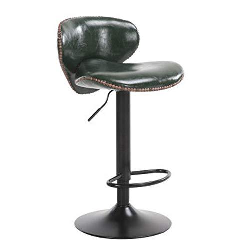 Xuanbao-F Barhocker Einstellbare Barhocker Swivel Barhocker Stühle mit Back Pub Küche Zähler Höhe Retro Braun Schwarz Pu Leder Pub Chair Bar Stühle Frühstück Esszimmerhocker -