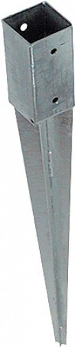 erdhuelsen Unimet Einschlagbodenhülse, 1 Stück, silber, UM725311