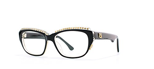 f5045cb9cd5 Emmanuelle Khanh Black and Clear Authentic Women Vintage Eyeglasses Frame
