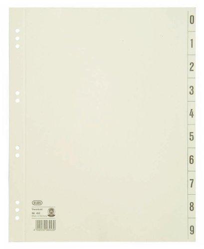blätter aus Recycling-Kraftkarton für DIN A4 100er Pack Lochung 6 und 8 cm chamois Trennlaschen Trennblätter Ordner Register Kalender Blauer Engel (Karton Ausgeschnitten)