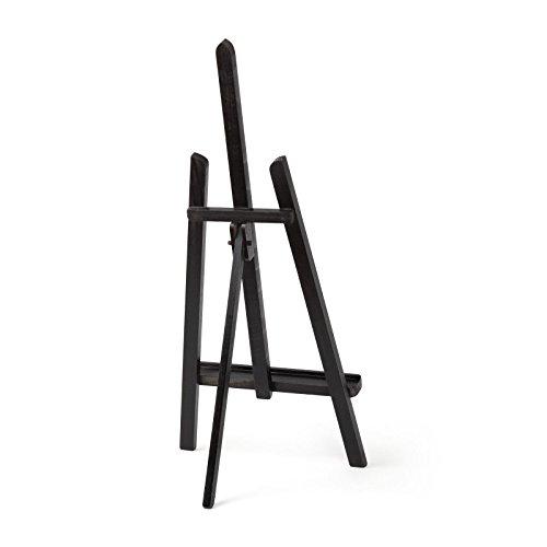 "Quantum Art"" Essex Wooden Table Top Easel, Beech Wood, Black, 600 mm"