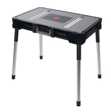 Keter 17203878 Werkzeugbank JOBSITE Master Pro Serie Folding Work Table, Kunststoff,