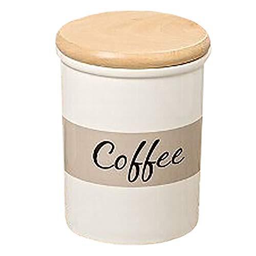 Boltze Vorratsdose Mali H15 D12cm Weiss Steingut (Coffee)