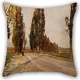 elegancebeauty-16-x-16-inches-40-by-40-cm-oil-painting-emil-jakob-schindler-boulevard-of-poplars-nea
