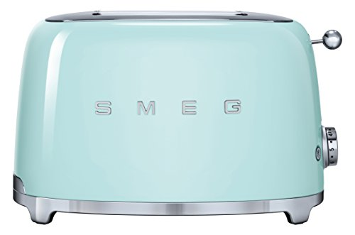 Smeg TSF01PGEU - Tostador 2 rebanadas, Acero inoxidable, 950 W, 220 - 240, 50/60, 310 mm, Verde...