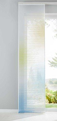 Shangrila Flächenvorhang Istanbul Farbverlauf transparent Schiebegardine Raumteiler Voile JacquardHxB 245x60 cm Gelb Grün Blau, 10000147