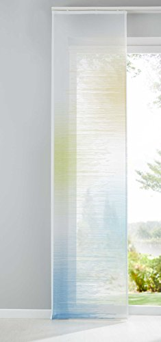 Shangrila Flächenvorhang Transparent Schiebegardine Voile Raumteiler Jacquard HxB 245x60 cm Istanbul Gelb Grün Blau, 10000147-148