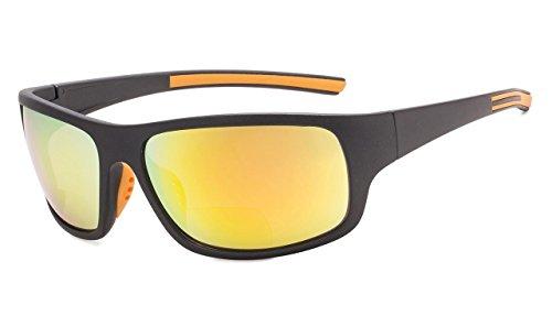 Eyekepper Bifokale Sonnenbrille +2.50 Stärke Lesen Sonnenbrillen (Orange Spiegel)
