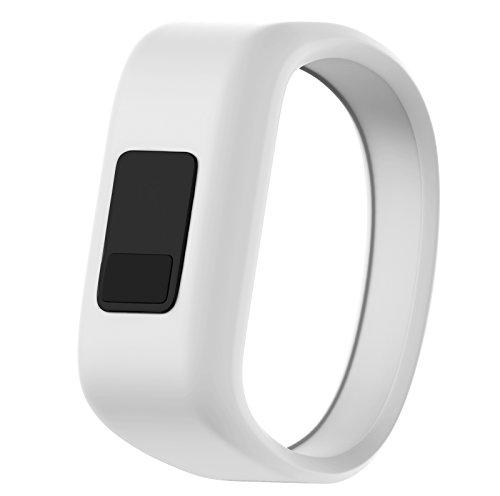 Armbanduhr Band, yustar Silikon Band Ersatz Armband Uhrenarmband für Garmin Vívofit Jr, Kinder, weiß Kinder-armbanduhr-ersatz-band