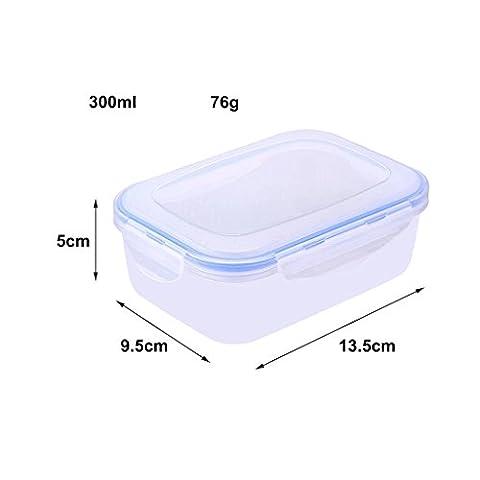 Ensemble de récipient de stockage de nourriture, petite boîte de nourriture Rectangulaire 330ml, micro-ondes, congélateur et lave-vaisselle