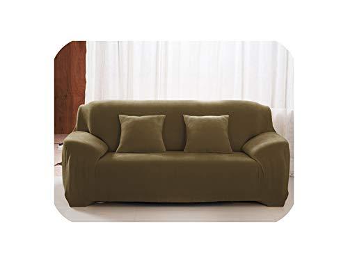 g, einfarbig, Plüsch, Stretch, Polyester, elastisch, Couch-Bezug, Sofakissen, Sofakissen, Kissenbezüge, Farbe 9, 2 Stück ()