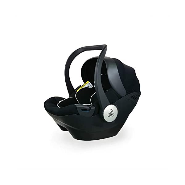 Ickle Bubba Stroller Stomp V3 iSize All-in-One iSize Baby Travel System | Car Seat w/ Isofix Base, Rear and Forward-Facing Pushchair, Carrycot | Black on Black Frame Ickle Bubba I-size all-in-one travel system: features carrycot, reversible pushchair, and mercury i-size car seat with is fix base. deluxe foam tires allow for a smooth ride Forward and parent facing toddler seat + new-born carrycot: flexible seating to cover your child from birth to 3 years old All weather protection: rain cover to cover your child from sudden downpour. machine washable and roomy footmuff 7
