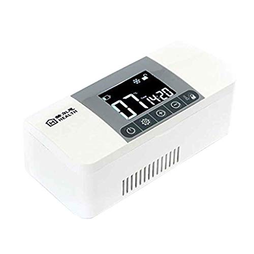 315C96ZkJ3L - YDSDM Refrigerador De Insulina Caja Medicina Refrigerador Refrigerador Pantalla LCD Control De Temperatura 2-8 ° C para Medicamentos