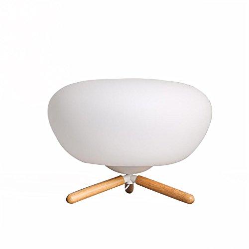 uus Lampe de table en bois massif verre chambre lampe de chevet E27 ampoule base 42 * 31cm lumière blanche, lumière chaude (économie d'énergie A +) (Couleur : Lumière chaude, taille : 42 * 31cm)