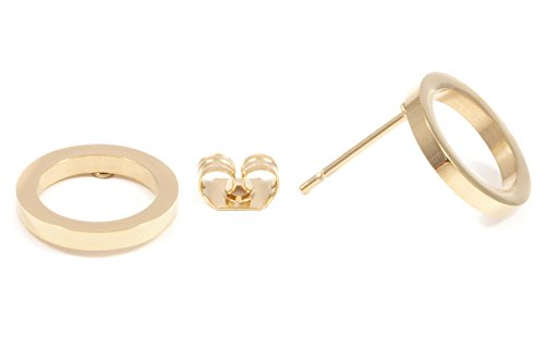 Happiness Boutique Damen Offen Kreis Ohrstecker Goldfarbe | Kleine Runde Ohrringe aus Edelstahl Minimalist Schmuck (Offene Kreis Ohrringe)