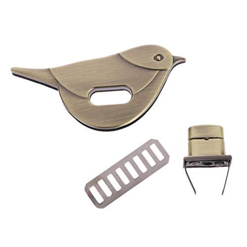 SimpleLife Vogel Form Schließe Drehen Sperre Schlösser Metall Hardware Für DIY Handtasche Tasche Geldbörse Zubehör Verschluss für Tasche DIY Schnalle - Schnalle Handtasche Tasche