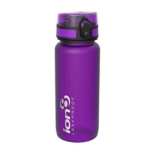 ion8 auslaufsichere Radfahren-Wasserflasche/Trinkflasche, BPA-Frei, 750ml / 24oz, Lila