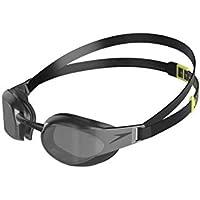 Speedo Fastskin Elite Mirror Gafas de Natación, Unisex Adulto, Negra/Gris, Talla Única