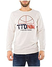 Tom Tailor Denim Crewneck With Wording Print Pullover Grau