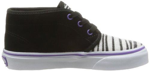 Vans K Chukka Boot, Unisex - Kinder Sneaker Schwarz - Noir (Suede/Zebra B)