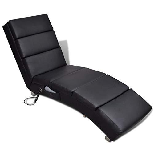 Preisvergleich Produktbild mewmewcat Relaxliege Liegesessel Chaiselongue Elektro Massageliege mit Wärmebehandlung 51 x 155 x 73 cm Schwarz