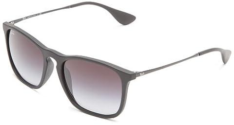 Ray-Ban Herren Chris RB4187 Square Sonnenbrille, Black (schwarz)
