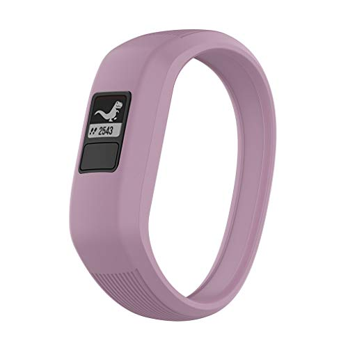 and für Garmin Vivofit 3 Vivofit JR / JR2 Smart Watch, Luxury Silikon Sport Ersatzarmband Replacement Wechselarmband (Lila) ()