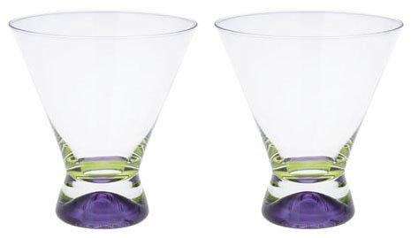 DANSK Spectra pair cocktail di vetro (viola x 2 set) 507 100 (Japan import / Il pacchetto e il manuale sono scritte in giapponese)