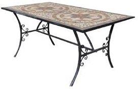 Tavoli Da Giardino In Ferro Con Mosaico.Tavolo Da Giardino Ferro E Terracotta 160x90 Con Mosaico Negozio