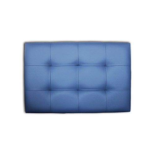 Ventadecolchones - Cabecero de Cama tapizado en Polipiel con capitoné Modelo Tablet Blanco y Medidas 91 x 70 cm para Camas de 80 ó 90