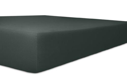 Kneer 2231882 Vario-Stretch Topper-Spannbetttuch für Boxspringbetten 180/200 cm, Höhe 4-12 cm, schwarz