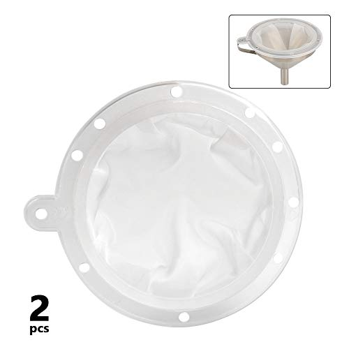 OFNMY Filter Trichter und Siebe Set für 5 Zoll Küchen-Trichter (200 + 400 Maschen)